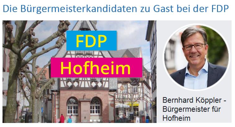 Bürgermeisterkandidaten zu Gast bei der FDP
